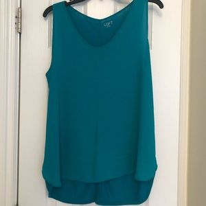 Loft Teal Sleeveless Shell
